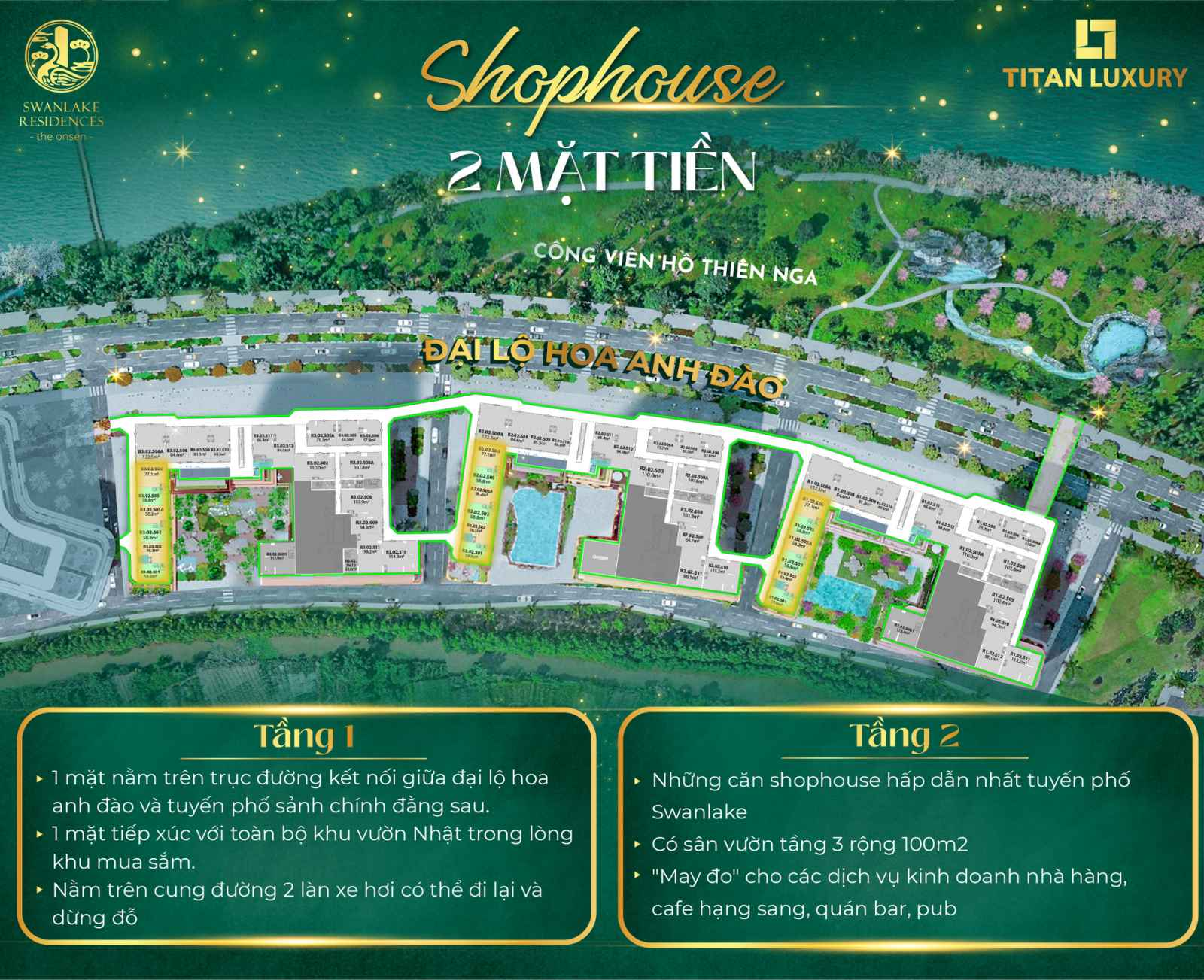 Shophouse 2 mặt tiền