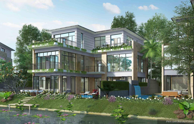 Phối cảnh 3D biệt thự đảo Ecopark Grand The Island - Biệt thự Tiffany