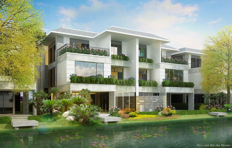 Phối cảnh 3D biệt thự đảo Ecopark Grand The Island - Biệt thự Marine