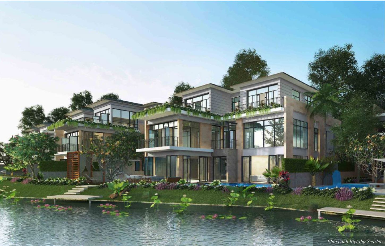 Phối cảnh 3D biệt thự đảo Ecopark Grand The Island - Biệt thự Scarlet