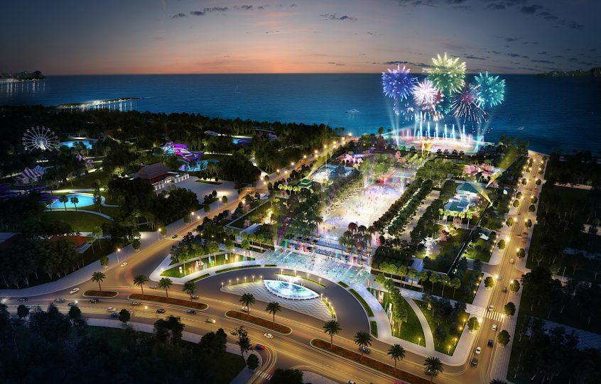 Quảng trường Sun Carnival được đánh giá sẽ là thỏi nam châm hút khách du lịch của quần thể Sun Group Hạ Long