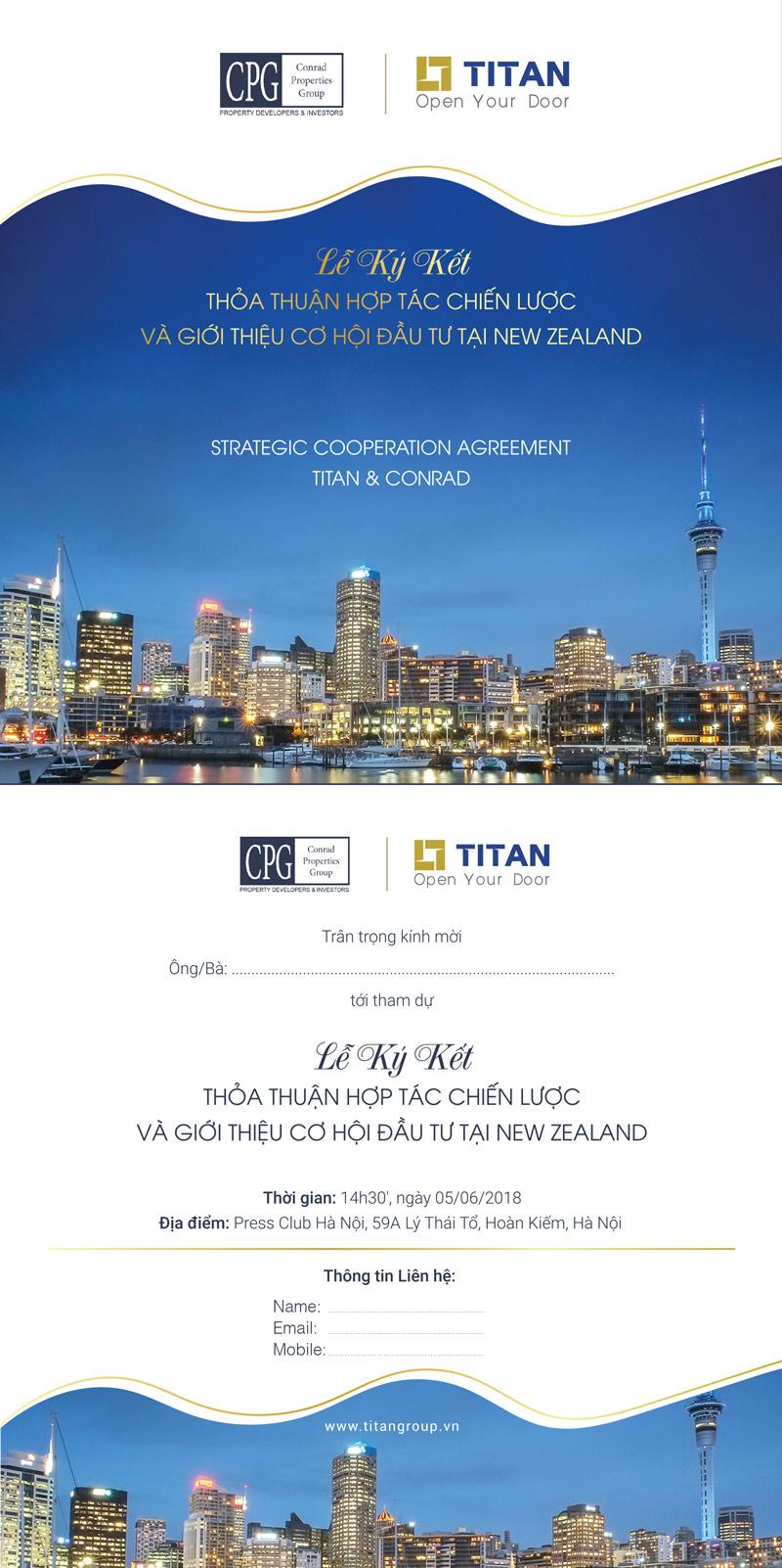Thư mời tham dự Lễ ký kết hợp tác chiến lược giữa Titan và Conrad bản E