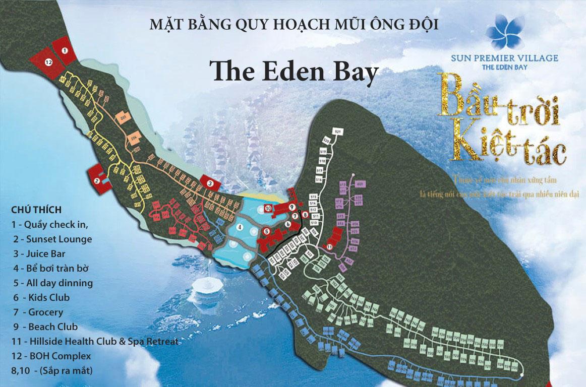 Quy hoạch tổng thể dự án Premier Village The Eden Bay - Sun Group Mũi Ông Đội Phú Quốc