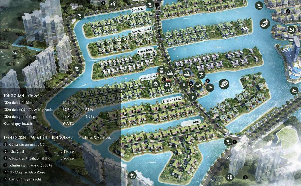 Quy hoạch tổng thể khu Ecopark - Ecopark Grand The Island