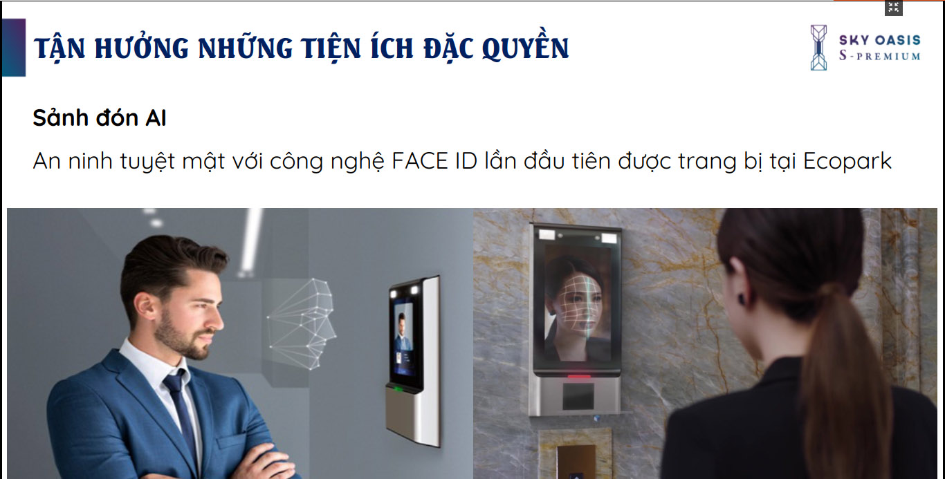 sanh don Face ID s-premium sky oasis ecopark