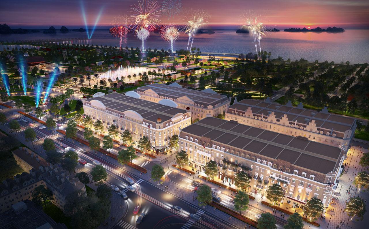Shophouse Europe sở hữu tiềm năng kinh doanh đắt giá nhờ vị trí kế cận quảng trường Sun Carnival Plaza