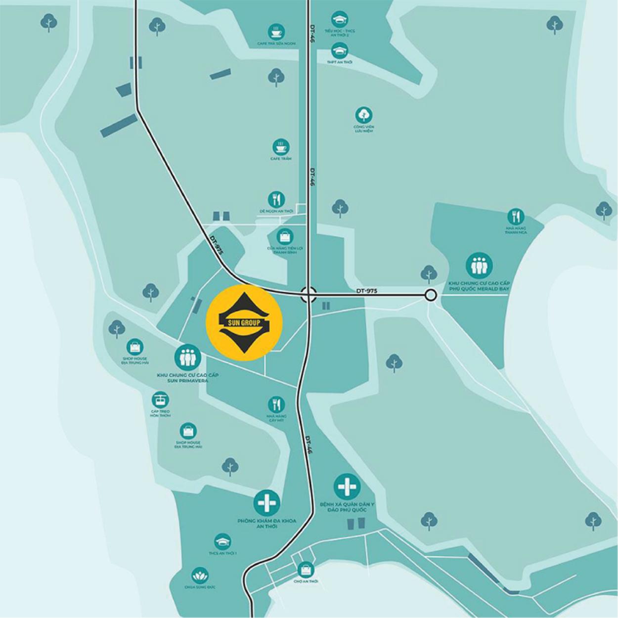 Sun Grand City Nam Phú Quốc sở hữu vị trí chiến lược tại Phú Quốc