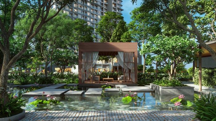Vườn thiền được đặt trong công viên tại Haven Park