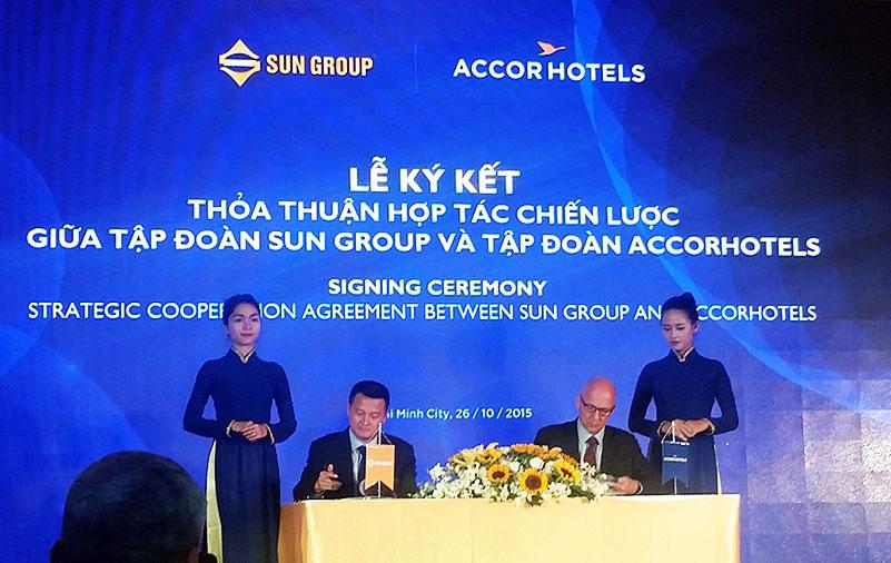 Lễ ký kết Tập đoàn Accor hợp tác cùng Sun Group
