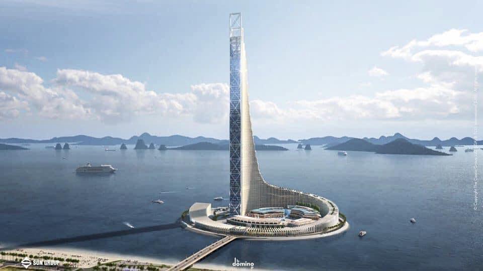 Khi hoàn thành, tháp Domino sẽ là biểu tượng du lịch mới của Quảng Ninh