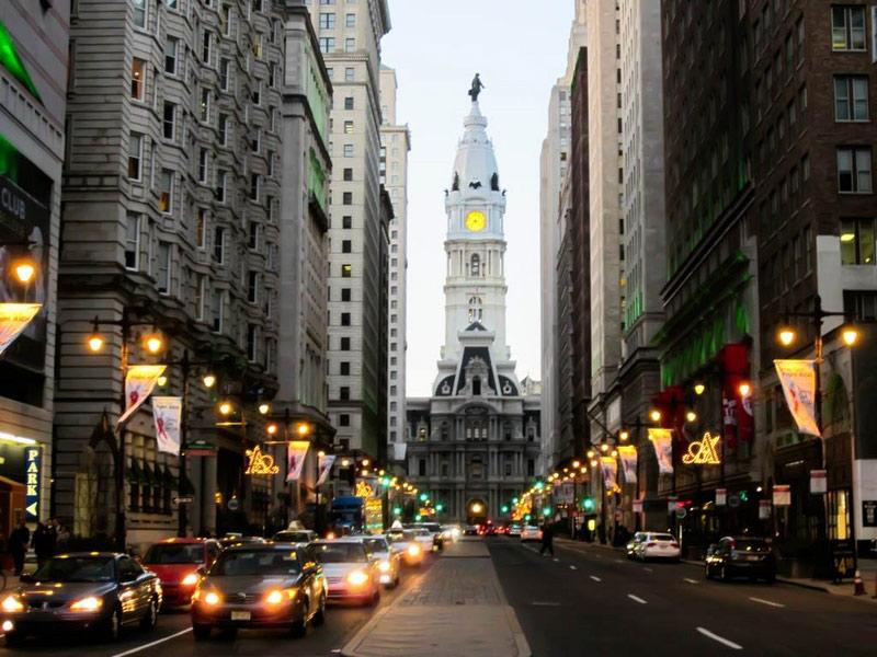 Tháp đồng hồ Philadelphia – Philadelphia, Mỹ