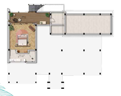 mặt bằng điển hình tầng 01 biệt thự The Eden Bay Phú Quốc