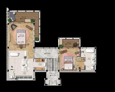 mặt bằng điển hình tầng 03 biệt thự The Eden Bay Phú Quốc