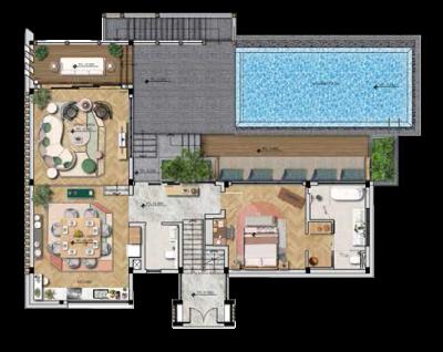 mặt bằng điển hình tầng 02 biệt thự The Eden Bay Phú Quốc
