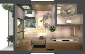 Ảnh mặt cắt 3D dự án Chung cư Sol Forest Ecopark - BM A 10