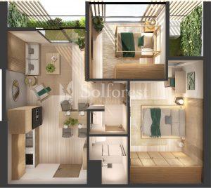 Ảnh mặt cắt 3D dự án Chung cư Sol Forest Ecopark - BM A 11
