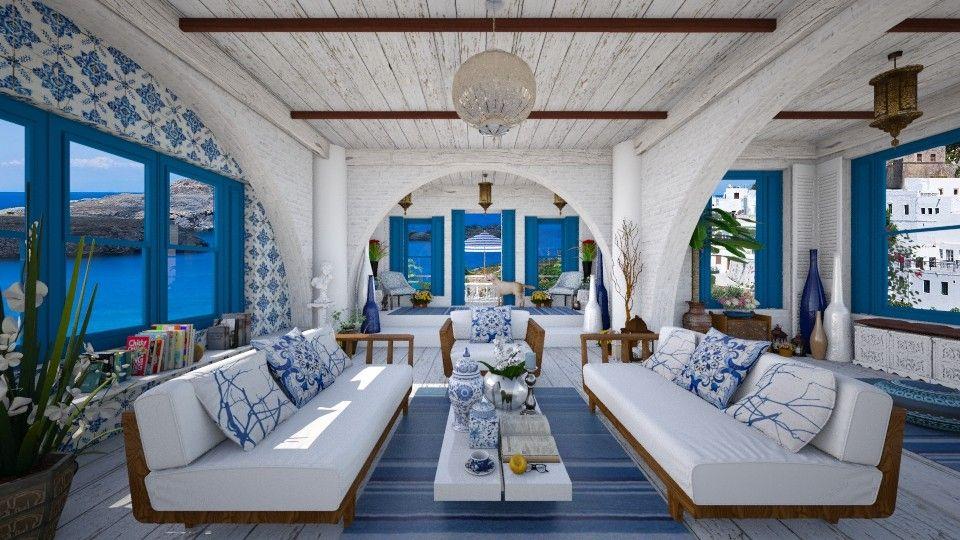 Phong cách nội thất Santorini Địa Trung Hải