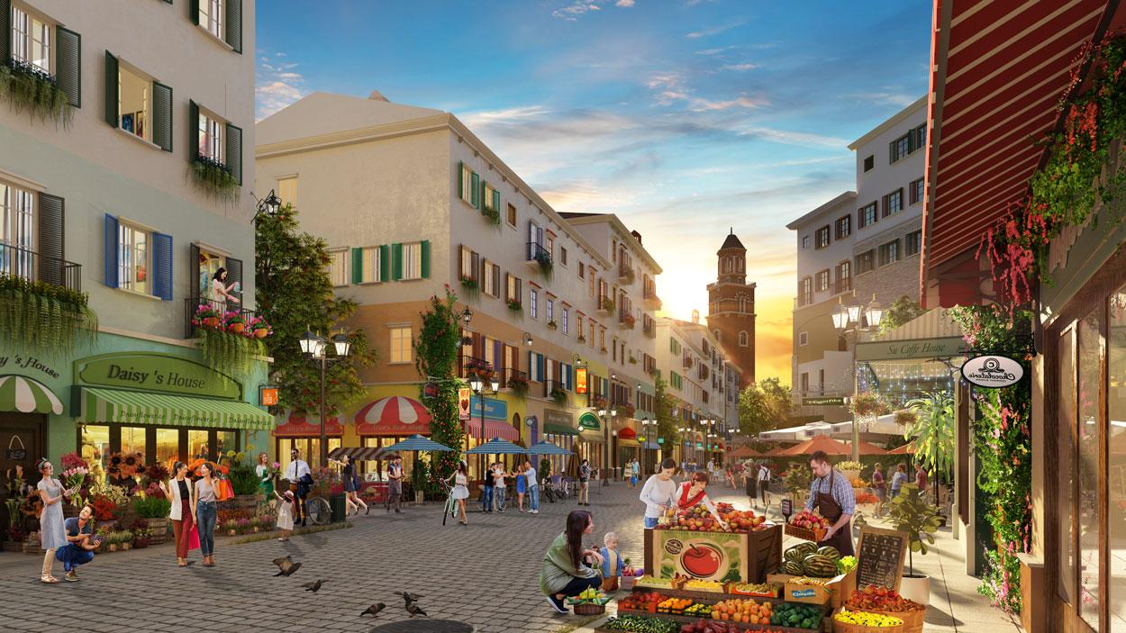 Tiềm năng thương mại cho các dự án thị trấn Địa Trung Hải