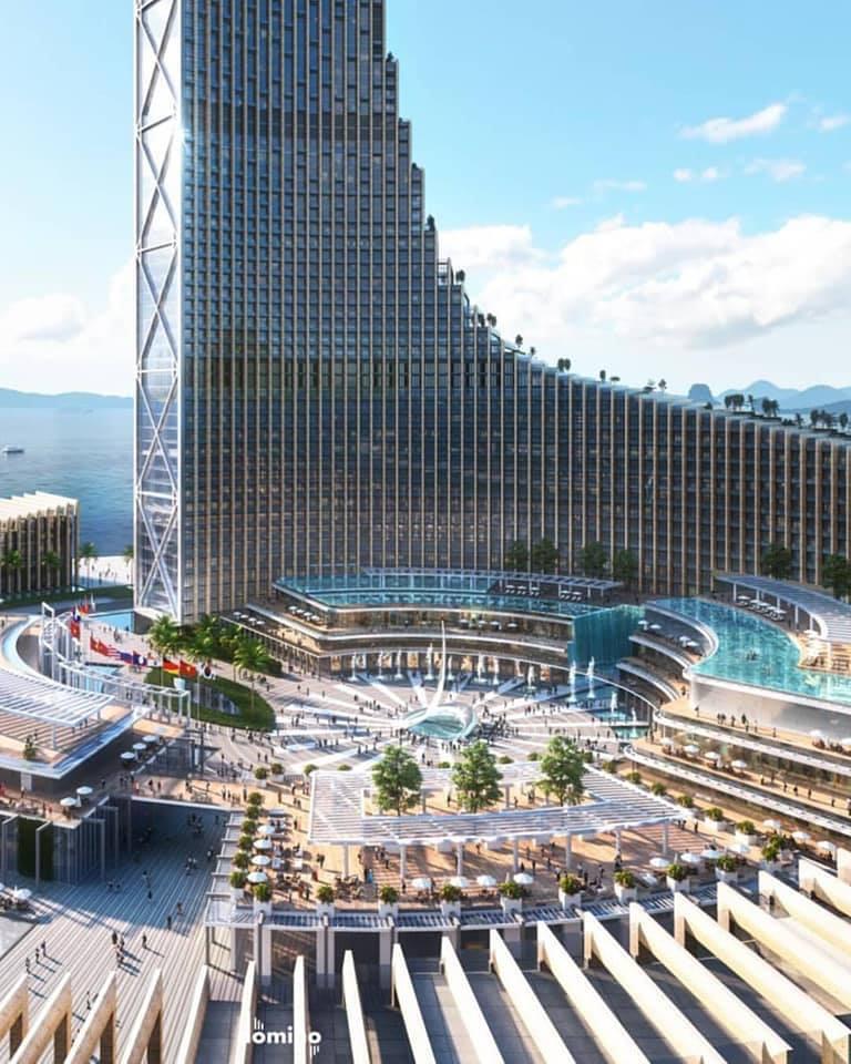 thiết kế dự án tháp domino Hạ Long
