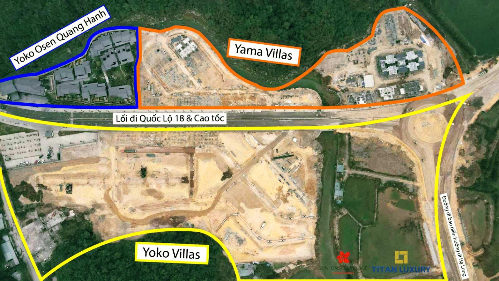 Tính đến tháng 1/2021 dự án Sun Onssen Village Limited Edition đã có 10 căn biệt thự cất nóc