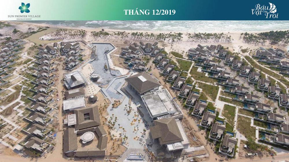 Tiến độ dự án biệt thự Bãi Kem tính đến tháng 12/2019