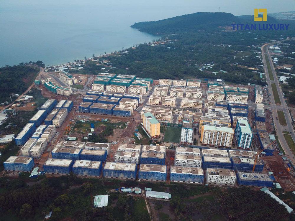 Toàn cảnh Sun Grand City New An Thoi nhìn từ trên cao