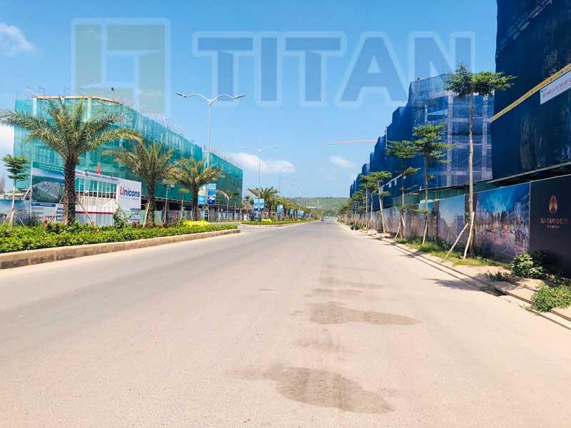 Trục đường đại lộ 36m chạy qua dự án Sun Grand City New An Thoi