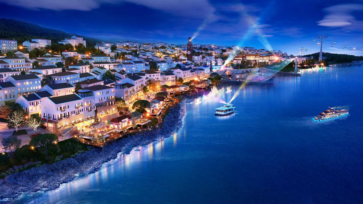 Những căn shophouse Địa Trung Hải sẽ được hưởng lợi trực tiếp từ những show trình diễn này