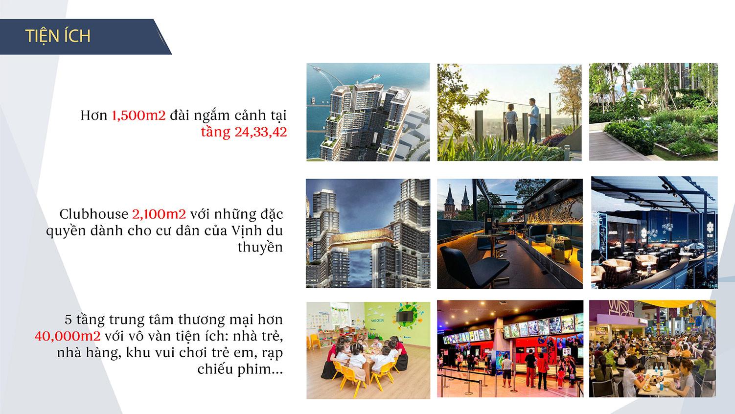 Tiện ích căn hộ Sun Grand Marina Hạ Long
