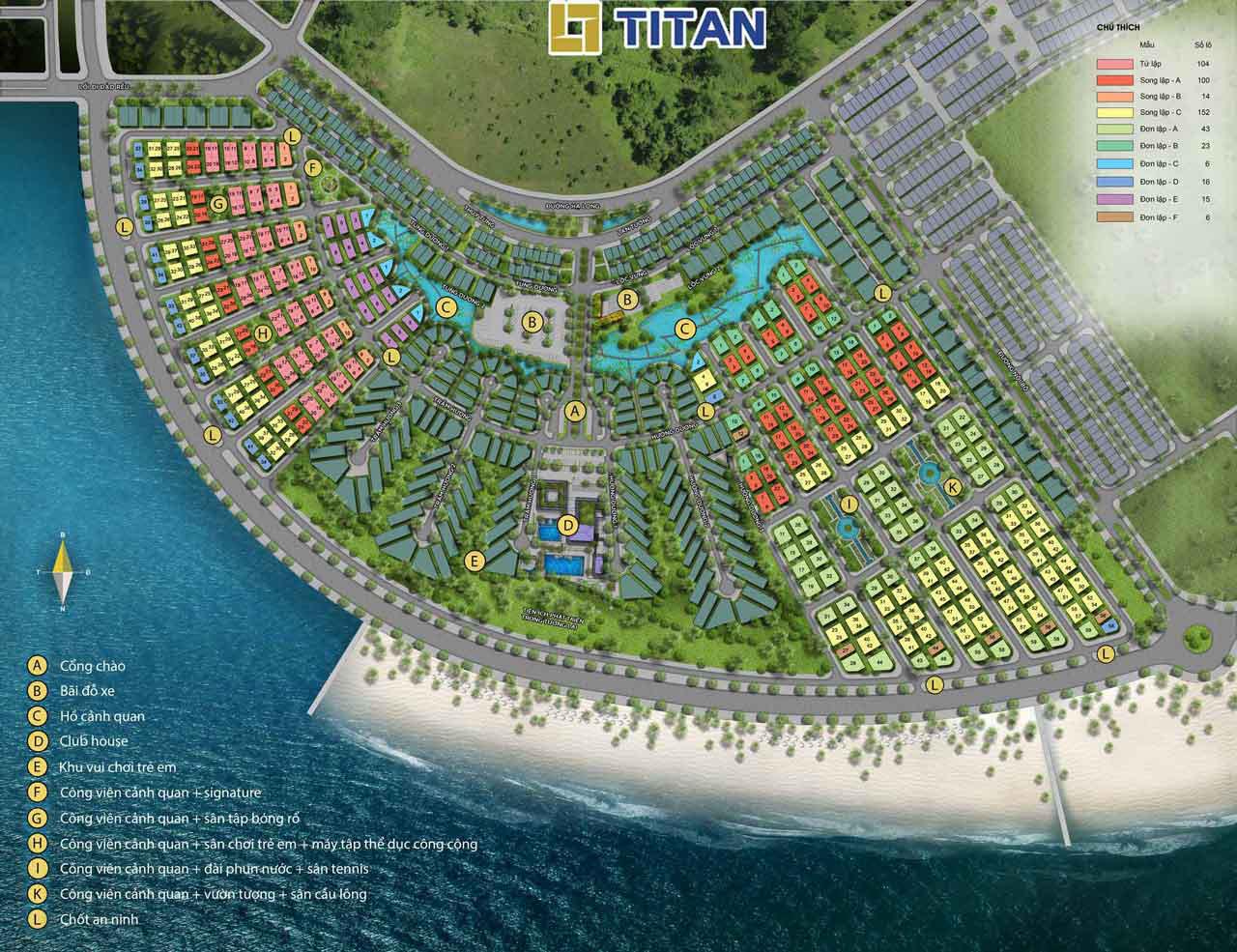 Mặt bằng đánh số phân lô dự án Sun Grand City Feria