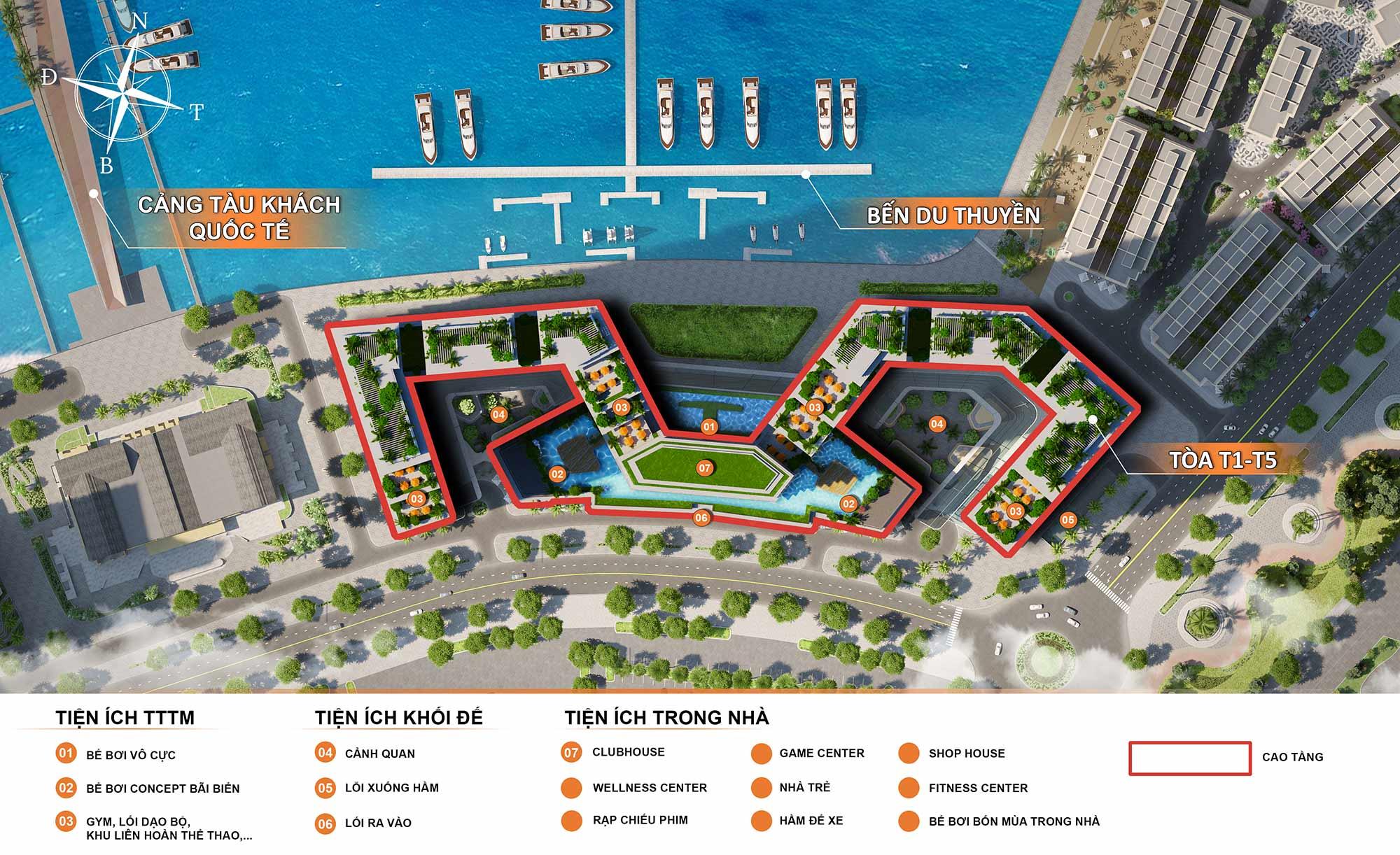 Mặt dự án căn hộ Sun Marina Town Hạ Long