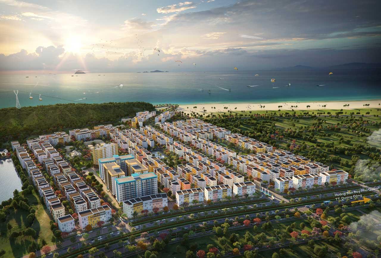 Sun Grand City New An Thoi là khu đô thị đầu tiên tại Phú Quốc được quy hoạch theo mô hình siêu khối