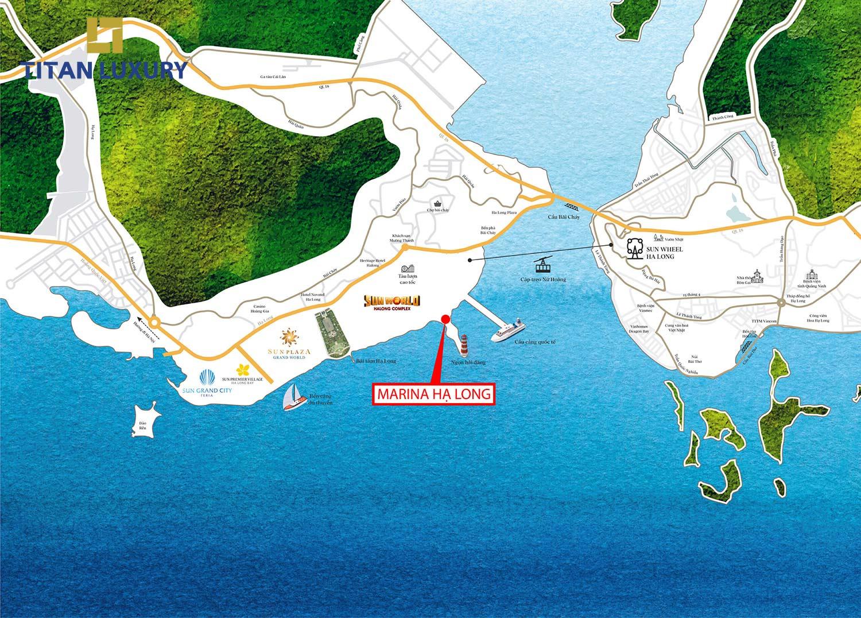 vị trí dự án Sun Grand Marina Hạ Long
