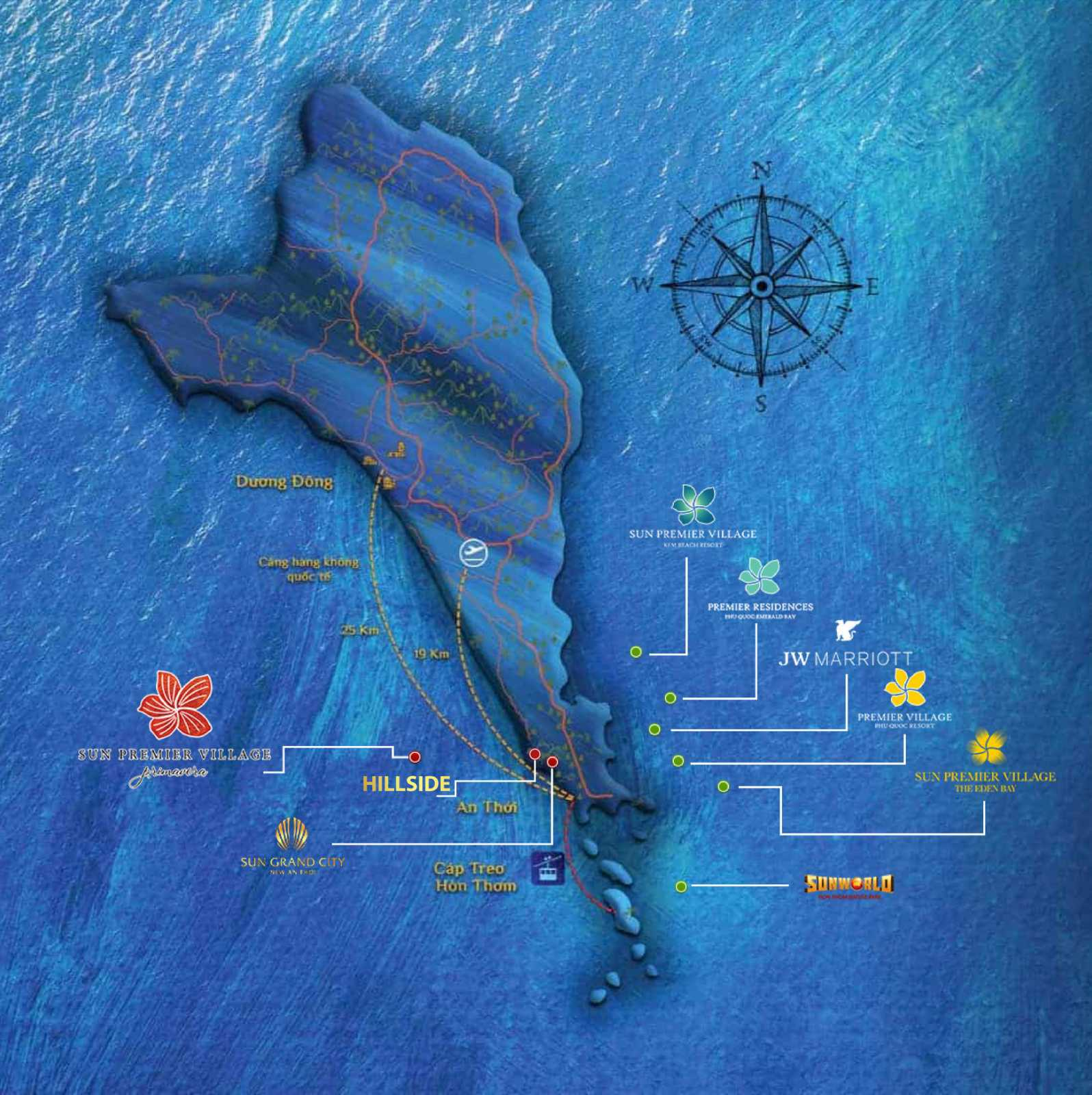 vị trí dự án Hillside Phú Quốc