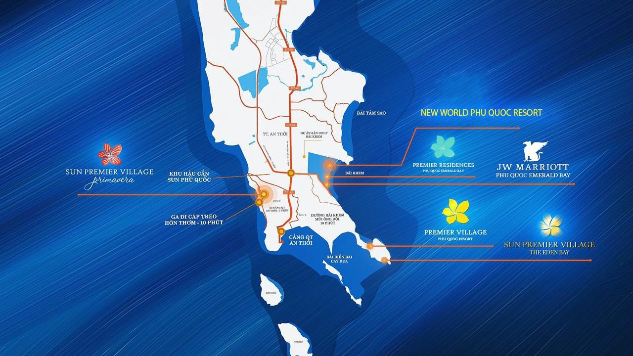 Vị trí New World Phu Quoc Resort