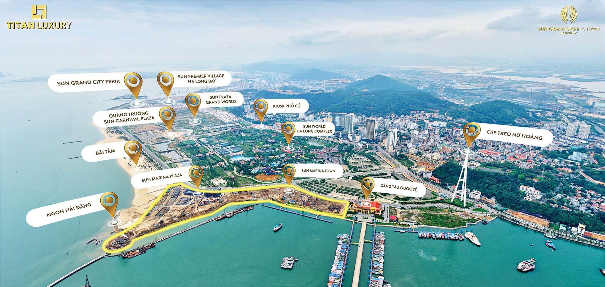 Vị trí đắt giá của Sun Marina Town mang lại những giá trị