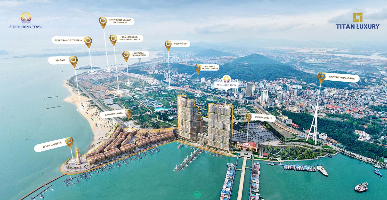 vị trí dự án Sun Marina Town Hạ Long