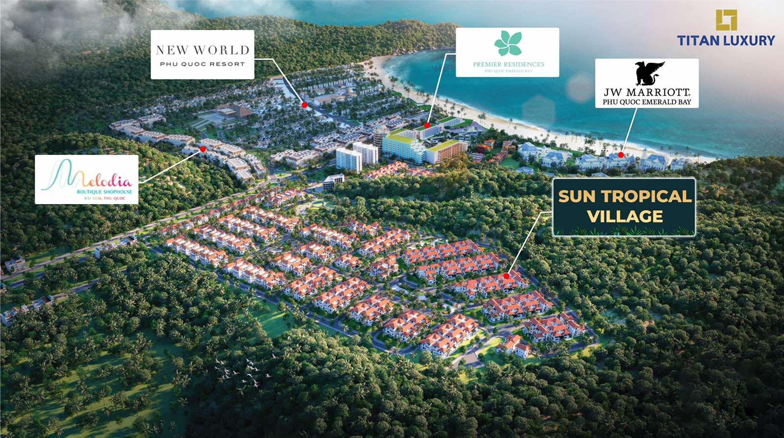 Sun Tropical Village là ngôi làng nhiệt đới ẩn mình giữa 3 tầng thiên nhiên