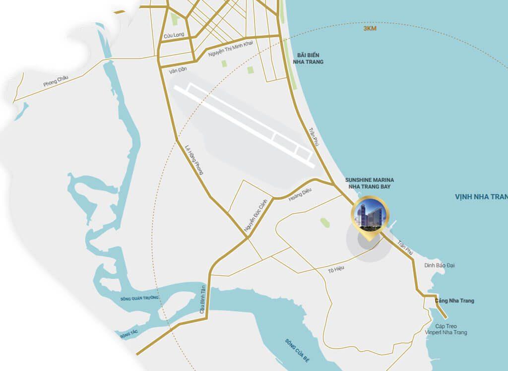 vị trí dự án Sunshine Marina Nha Trang Bay
