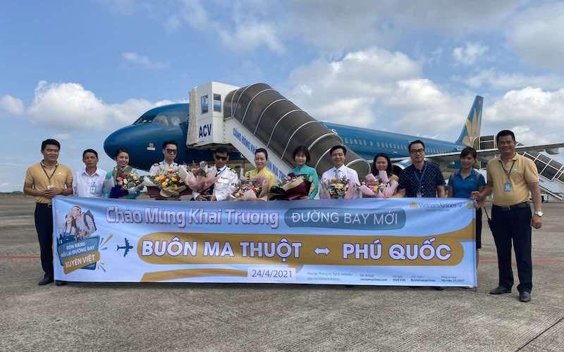 Vietnam Airlines chính thức khai thác thêm 9 đường bay đến Phú Quốc