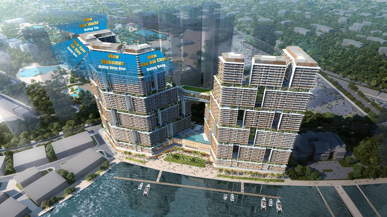 View căn hộ Sun Grand Marina Hạ Long