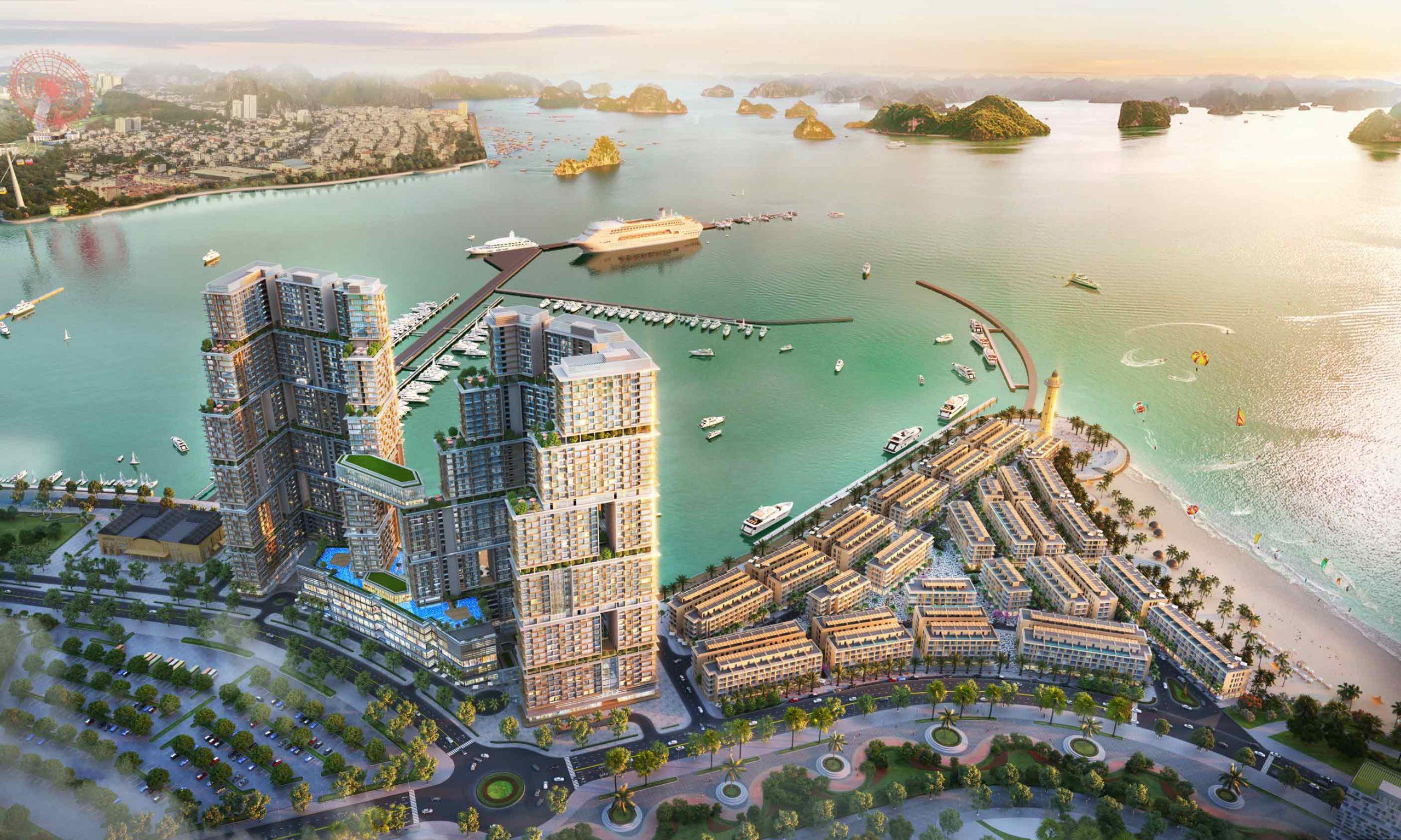 Sun Marina Town sở hữu tầm view độc tôn hướng ra Vịnh di sản, Vịnh du thuyền đắt giá